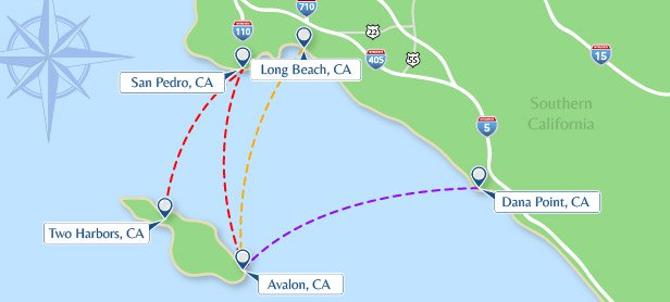 Maps : Catalina Express