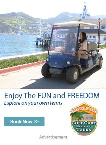 Catalina Island Golf Cart - Book Now - Enjoy the fun and freedom - Explore on your own terms