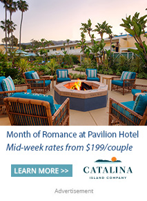 Pavilion Hotel's outdoor fireplace and seating