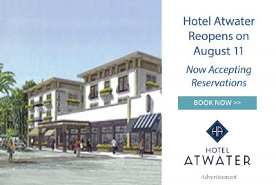 Hotel Atwater reopens August 11