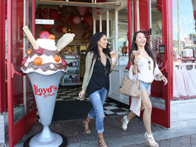 Lloyd's of Avalon. let the smell of fresh waffle cones or taffy guide you into this shop of sweets. serving ice cream, candy, signature caramel apples and whatever your sweet tooth desires.