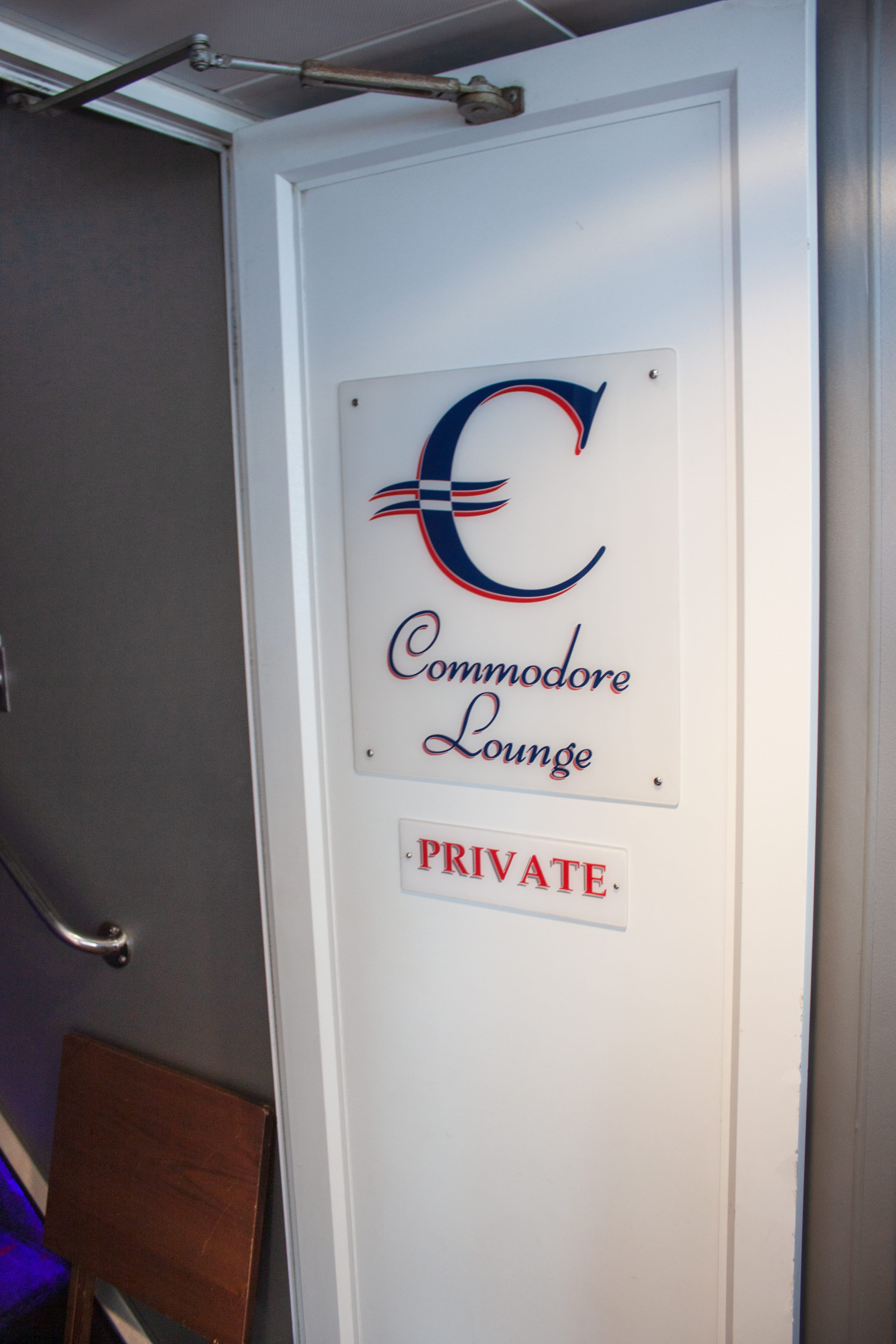 Commodore lounge entrance