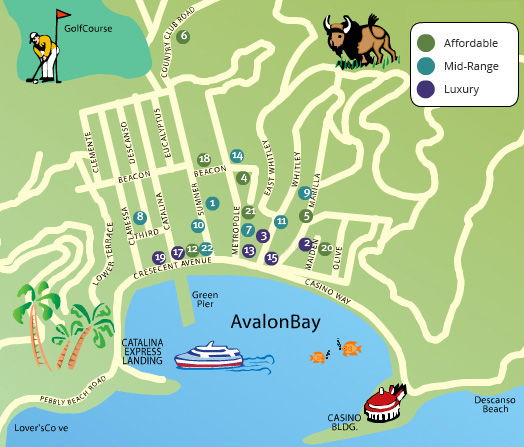 Hotel Map & Pricing : Catalina Express on