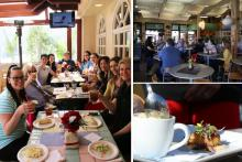 collage of images of a group on the Catalina Food Tour