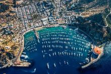 Aerial view of Avalon Harbor